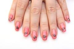 Manicure - стикеры искусства ногтя Стоковая Фотография
