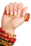 manicure Франции красотки стоковое фото