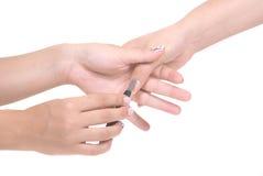 manicure чистки стоковое фото