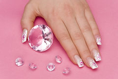 Manicure. Beautiful hands with fresh manicured nails Stock Photography