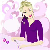 Manicure ilustracji
