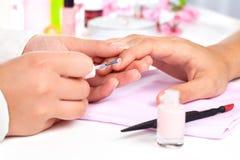 Manicure. royaltyfri foto