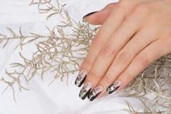 Manicure. Beautiful hand with fresh manicured stylish nails Stock Image
