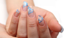 Manicure. And design of nails, escalating Stock Images