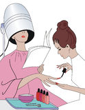manicure royaltyfri illustrationer