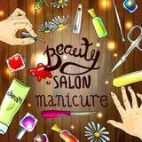 manicure Stock Foto