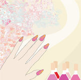 Manicure - abstract card Stock Photography