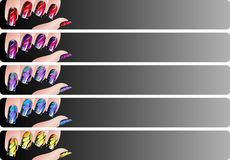 Manicure banners set Stock Images