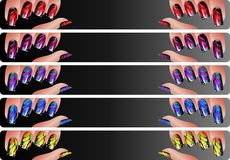Manicure banners set Royalty Free Stock Photos