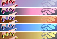Manicure banners set Stock Image