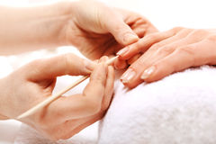 Manicure, beautiful healthy nails Royalty Free Stock Image