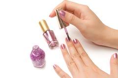 Manicure - Beautiful manicured woman's hands Stock Image