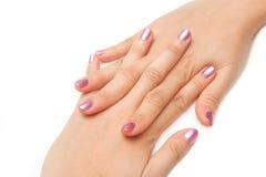 Manicure - Beautiful manicured woman's nails Royalty Free Stock Photo