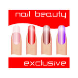 Manicure  Beautiful nails Royalty Free Stock Photography
