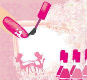 Manicure in beauty salon , abstract card Royalty Free Stock Photography