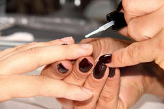 Manicure at beauty salon Royalty Free Stock Photos