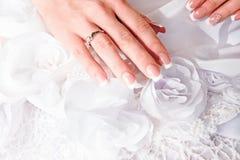 Manicure bride Stock Image