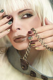 Manicure with chain. Stock Image