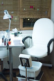 Manicure chair. A special armchair in a beauty salon, manicure and pedicure service stock image
