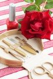 Manicure das ferramentas Fotografia de Stock Royalty Free