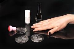 Manicure, decorating nails lamellae Royalty Free Stock Image
