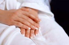 Manicure delle mani delle mani Immagini Stock