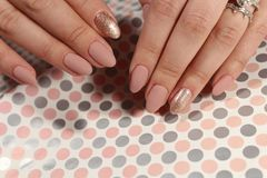 Manicure design nails Stock Images