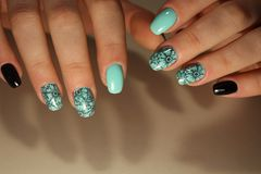 Manicure design nails Royalty Free Stock Images