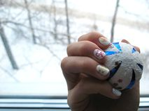 Manicure design stock image