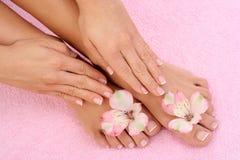 Manicure e pedicure Immagini Stock