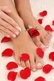 Manicure e pedicure Immagine Stock