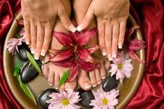 Manicure e pedicure Foto de Stock Royalty Free