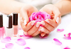 Manicure en Hands Spa Stock Fotografie