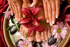 Manicure en pedicure stock foto