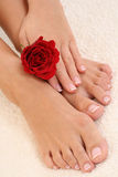 Manicure en pedicure Stock Foto's