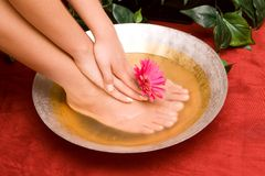 Manicure en pedicure stock afbeelding