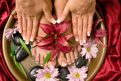 Manicure en pedicure Royalty-vrije Stock Foto