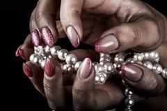 Manicure en spijkerart. royalty-vrije stock afbeelding
