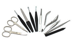 Manicure equipment isolated Royalty Free Stock Photos