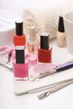 Manicure equipment Royalty Free Stock Photo