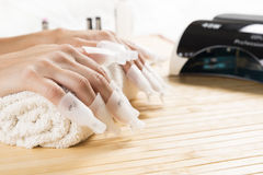 Manicure fantastico in un moderno Fotografie Stock