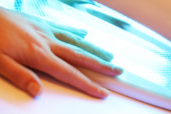 Manicure on female hands Royalty Free Stock Photography