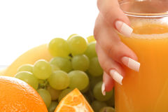 Manicure and fruits Stock Photography