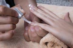 manicure gör för att spika upp polerade produkter Royaltyfria Bilder