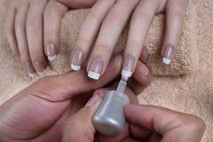 manicure gör för att spika upp polerade produkter Royaltyfri Fotografi