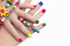 Manicure for girls. Royalty Free Stock Images