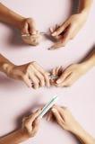 Manicure graduale Fotografia Stock