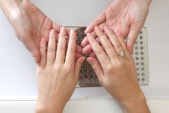 Manicure - healthy nails Stock Photography