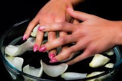 Manicure i gwóźdź sztuka Obraz Stock