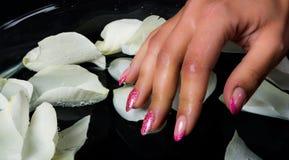 Manicure i gwóźdź sztuka Obrazy Stock